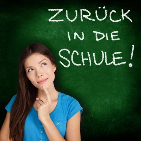 20836521-zuruck-in-die-schule-german-college-university-student-woman-thinking-back-to-school-written-in-germ