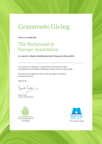 grassroots giving cert