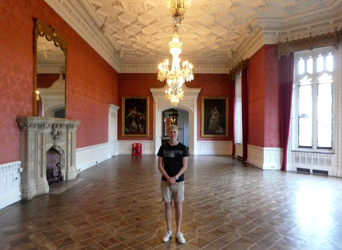 Julius in the Waldegrave Drawing Room.